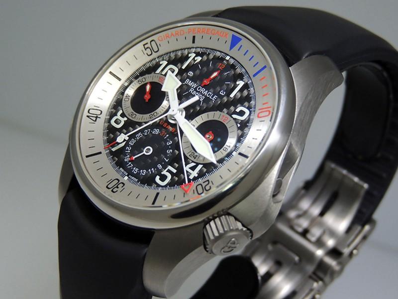 "Girard Perregaux R&D 01 ""Challenger of Records"" USA 87 BMW Oracle 49931-21-613-FK6A Titanium LTD 750 pic Retail  $14,100"