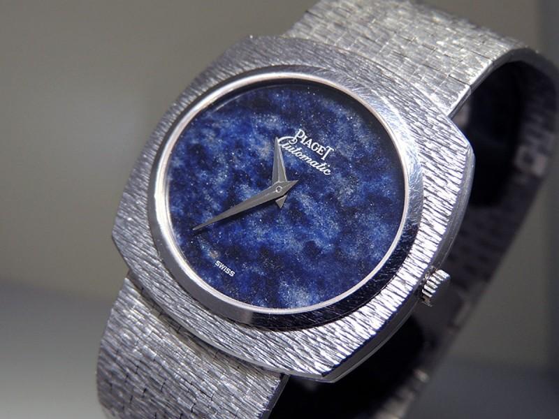 Piaget Vintage Ultra Flat 12441 A 6 18K White Gold Lapis Lasuli Blue Dial  Priceless 100% Authentic