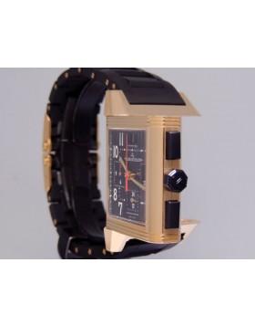 Jaeger-LeCoultre  Reverso Squadra Chronograph GMT Q7012671 18k Rose Gold Black Dial Retail $25,600