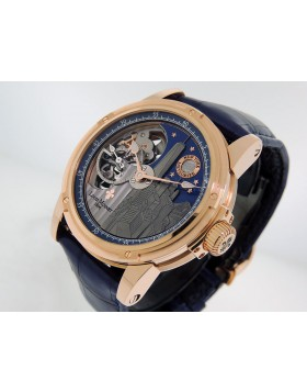 Louis Moinet Mecanograph New York LM-31.50.NY 18k Rose Gold Meteorite Dial 43.5mm Retail $55,000
