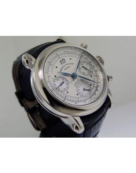 Franck Muller Chronograph Double Dial White Gold