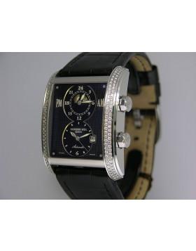 Raymond Weil Don Giovanni Dual Time with Diamonds 288-SLA-20001
