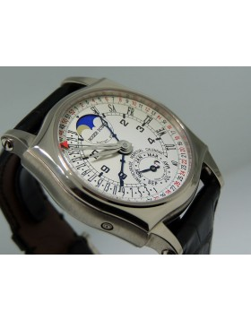 Roger Dubuis Sympathie Bi-Retro Perpetual Calendar Moon Phase 18K White Gold  S40 57 10