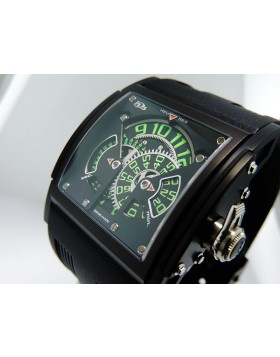 HD3 Three Minds Black dial Green Numerals
