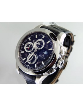 Perrelet Black Perpetual Calendar Chronograph with Moon Phase A1058-1 Retail $29,900 NIB