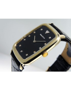 Jaeger-LeCoultre Fancy Square case Vintage Diamond 14k Yellow Gold  9046 Black Dial Retail Vintage