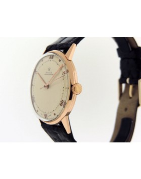 1950s Vintage Rolex Precision Chronometer 3745 18k Rose Gold  Excellent Condition Serviced 100% Authentic