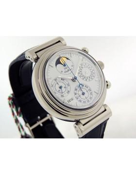 IWC Da Vinci Perpetual IW3750 18k White Gold 39mm White/Siliver Dial LTD Retail $Vintage/Rare