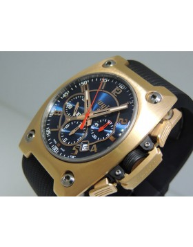 Wyler Genève Code R Chronograph 100.273 Incaflex 18k Red Gold LTD Retail  $22,800