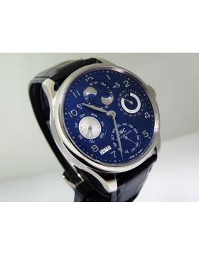 IWC Portuguese Perpetual Calendar Dual Moon Blue DIal White Gold IW503203