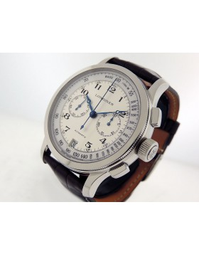 Longines Lindbergh Atlantic Voyage Chronograph L2.703.4.11.0 Silver/White Dial $5100