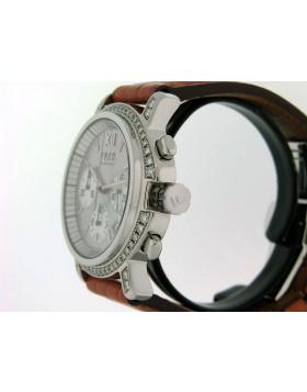 Fred of Paris Chronograph with White Diamond Bezel