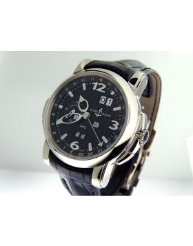 Ulysse Nardin Perpetual GMT 18k White Gold Black Dial 326-60/62