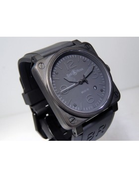 Bell & Ross BRO03-92.S Phantom Date 42x42mm Rubber Strap LTD Rare Retail $4,200
