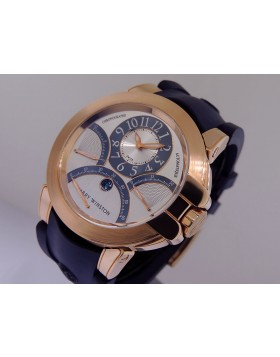 Harry Winston Ocean Retrograde Chronograph 18k Rose Gold 400 MCRA 44R