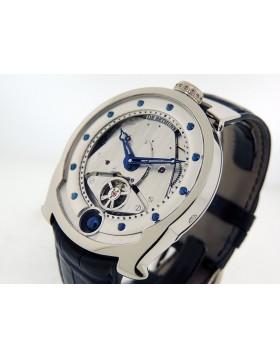 De Bethune Revolving Moon DBS-W 18k White Gold Skeleton Dial  Retail $89,000