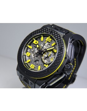 Hublot Big Bang Unico Ferrari 45mm 401.CQ.0129.VR Ceramic Skeleton Grey Dial Carbon Fiber Bezel Retail $29,800
