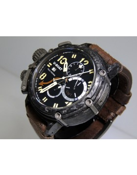 U-Boat Chimera GMT 7177 Carbonio Solid Case Limited 199 piece Edition  Retail $14,800