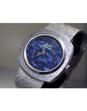 Piaget Vintage Ultra Flat 12441 A 6 18K White Gold Lapis Lasuli Blue Dial  Priceless 100% Authentic
