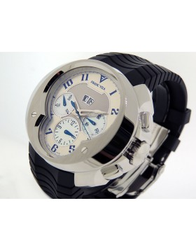 Franc Vila Chronograph Big Date FVa8ch Limited 88 piece Edition Silver w/ Blue Accent  Dial  Retail $22,000