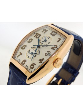 "Franck Muller 6850.MB "" Wall Street"" Cintre Curvex Master Banker Chronomatrique 18k Rose Gold Very Rare Limited to 10 Piece Edition Retail $35,000"