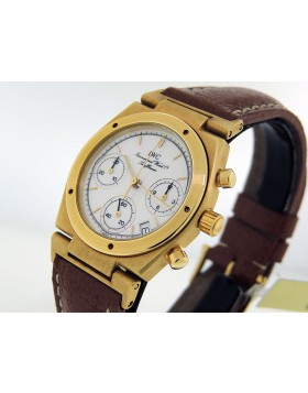 IWC Ingenier Chronograph 18k Yellow Gold Quartz movement ref:3733