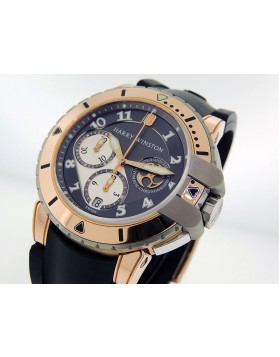 Harry Winston Ocean Diver Project Z2 Chrono 410/MCA44RZCA 18k Rose Gold