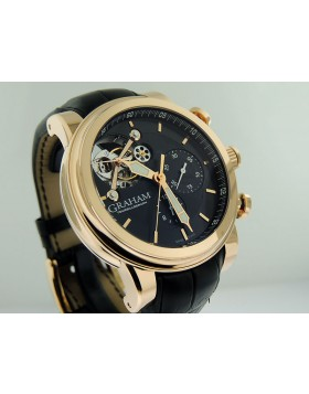 Graham Tourbillograph Silverstone Woodcote Rose Gold Limited Edition  of 50 Pieces 2TWBR.B11A.C104.5