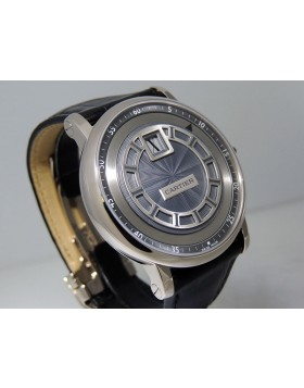 Cartier Rotonde de Cartier Jumping Hours  W1553851 42mm 18K White Gold Slate-colored dial Retail $41,200