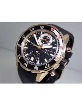 "IWC Aquatimer Chronograph IW376903 ""Flyback"" 18k Rose Gold 44mm"