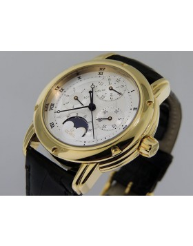 Gevril Perpetual Calendar MoonPhase 18k Yellow Gold Prototype