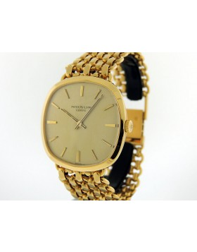 Patek Philippe 3544/1 Cushion 18K Gold Integrated Milanese Bracelet Vintage 1970s