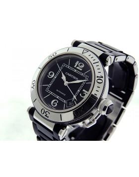 Cartier Pasha de Cartier Seatimer Auto Date 41mm Bracelet W31077U2 Retail $7,850