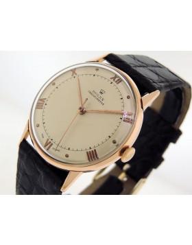 Rolex 1950s Vintage Precision Chronometer 3745 18k Rose Gold  Excellent Condition Serviced 100% Authentic