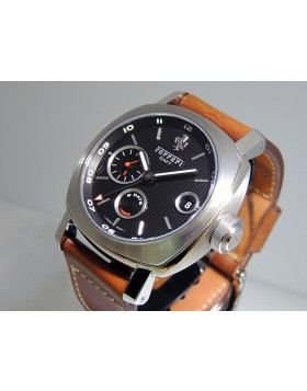 Panerai Ferrari Granturismo 8 Days GMT FER00012 LTD Black Dial Brown Leather Strap Retail Price $14,900